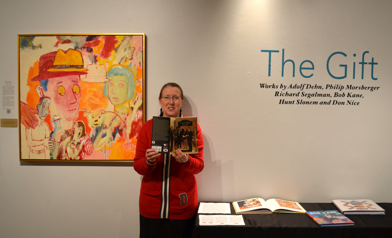 """The Gift"" Opening Reception Photo of Curator Jacqueline Tygart"